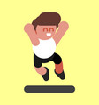 boy jumps high vector image