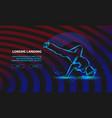 breakdance freeze background vector image vector image