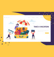 business characters pack for vacation landing page vector image