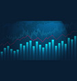 business chart stock market trading with a red vector image vector image