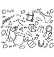 chemistry chemist doodle education art style with vector image vector image