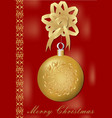 christmas greeting card with gorgeous golden xmas vector image