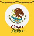 cinco de mayo poster design symbol of the mexican vector image vector image