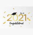 Class 2021 graduation with gold numbers