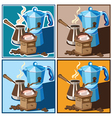 classic coffee set vector image vector image