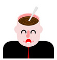coffee in open head hot drink on your mind vector image vector image