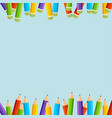 colorful pencils background vector image