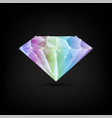 colorful shiny diamond vector image