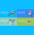 customer retention banner set isometric style vector image
