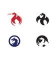 dragon icon vector image