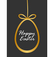 easter with gold easter egg vector image