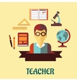 Education flat infographic design vector image