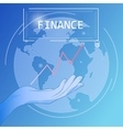 Financial business poster vector image vector image