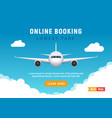 flight travel trip banner for online booking vector image vector image
