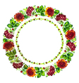 floral circle vector image vector image
