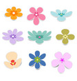 flower paper with shadow on white background vector image