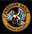 flying bald eagle retro badge vector image vector image
