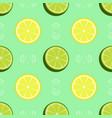 fresh lemon and lime pattern vector image