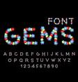 gems font precious stones abc treasures of vector image