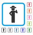 gentleman proposal framed icon vector image vector image