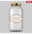Glass Jar for canning with label vector image vector image