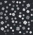 grey four leaf clover icon isolated seamless vector image vector image