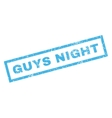 Guys Night Rubber Stamp vector image vector image