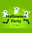 halloween background with halloween party text vector image