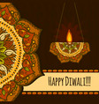 Happy diwali festival concept background hand