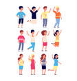 happy kids little joyful children smiling jump vector image vector image