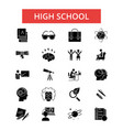 high school thin line icons linear vector image
