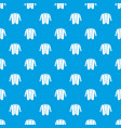 hipster style pattern seamless blue vector image vector image