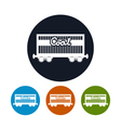 Icon the railway freight car for coal vector image