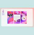 instagram stories sale set vector image