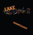 lake winnipesaukee new hampshire s playground vector image vector image