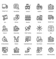 logistic delivery icons set 7 vector image vector image