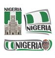 logo for nigeria vector image vector image