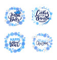 merry christmas holly jolly quote happy holidays vector image vector image