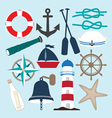 Nautical Objects Collection vector image