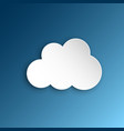 paper clouds on a blue sky artoon paper cloud vector image vector image