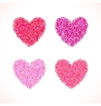 Pink glitter valentine day heart shape vector image vector image