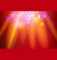 red light holiday vector image