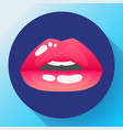 red lips of sexy womans lips vector image