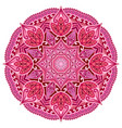 red mandala pink wedding circle element vector image