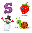s alphabet vector image