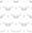 seamless pattern female hands logo icon vector image