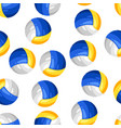 seamless pattern with volleyball balls in flat vector image vector image