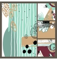 set of modern abstract contemporary painting in vector image vector image