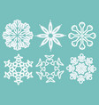 set of snowflakes for christmas background vector image