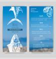 sketch - logo seafood card vector image vector image